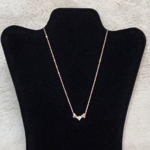 Girl's Rose Gold Heart Charm Necklace